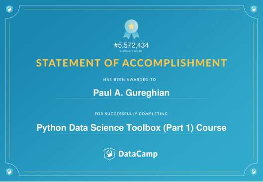 Python Data Science Toolbox (Part 1) Course-1
